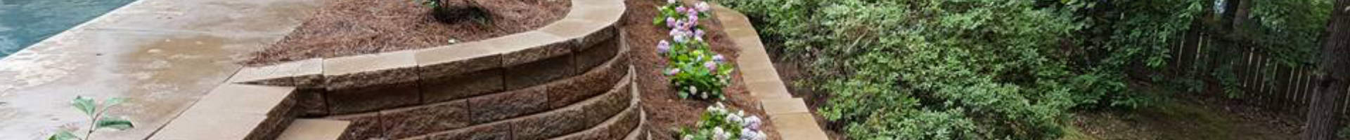 retaining walls with steps to the garden